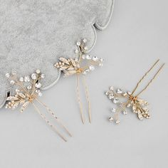 WILLOW | Gold Leaf Pins - The Luxe Bride Co
