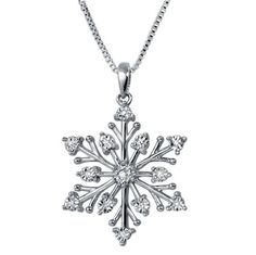 Diamond Snowflake Pendant-Necklace in Sterling « Holiday Adds
