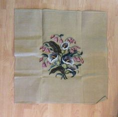 Large Preworked Calla Lily Needlepoint Canvas to by Texasdolls