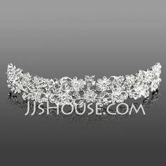 Hodepynt - $21.99 - Hodepynt (Gorgeous Clear Crystals Wedding Bridal Tiara 042005464) http://jjshouse.com/no/Hodepynt-Gorgeous-Clear-Crystals-Wedding-Bridal-Tiara-042005464-g5464
