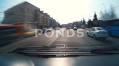 Car moving through the center of city - Stock Footage
