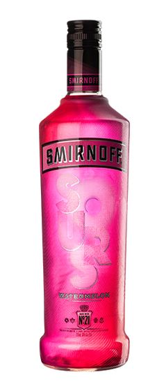 Smirnoff Sours Watermelon combines Smirnoff No. 21 triple distilled vodka with the refreshing, tart taste of watermelon, resulting in a deliciously tangy and sweet liquid. I take a shot glass rim it in salt and wah-lah . Green Apple Vodka, Citrus Vodka, Raspberry Vodka, Watermelon Mixed Drinks, Smirnoff Sours, Coconut Vodka, Vodka Recipes, Cocktail Recipes, Cocktails