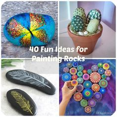 """Do you like rocks? Most people don't realize just how creative you can get with a simple rock. Painting rocks and stones can truly turn them into a real work of art. Big rocks can be door stoppers or grace your garden. Tiny rocks can become kitchen magnets. Rocks that are """"in between"""" sizes can be just about anything – from paperweights for your desk, to markers in your herb or flower garden. What's truly wonderful is that you can paint them, making these rocks unique and special."""