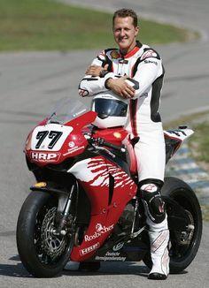 Schumacher- on a bike