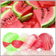 Expression Fiber Arts, Inc. - Limited Edition RIPE WATERMELON 'LUSTER'  WORSTED   Beads, $31.36 (http://www.expressionfiberarts.com/products/limited-edition-ripe-watermelon-luster-worsted-beads.html)