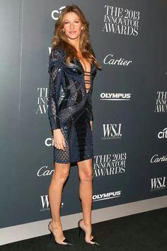 Gisele wears Atelier Versace