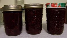 When I was a kid growing up on the family farm, the fence line we shared with the neighbors contained a goodly number of saskatoon trees. My creative and inventive Mom concocted this recipe to use… Saskatoon Recipes, Saskatoon Berry Recipe, Sour Cherry Jam, Rhubarb Jam Recipes, Homemade Gifts, Freezer Jam, Jelly Recipes, Cherry Recipes, Kitchens