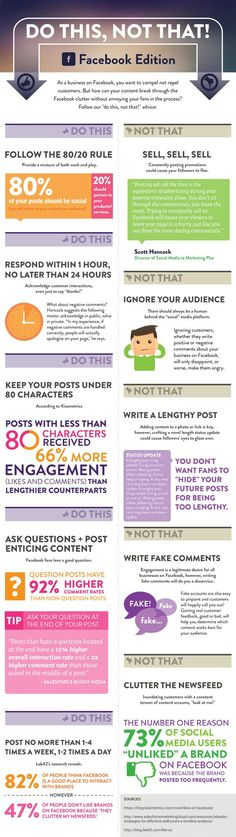 [Infographic] Do This Not That on Facebook | via #BornToBeSocial, Pinterest Marketing | borntobesocial.com learn more here:  http://jvz9.com/c/459377/216079