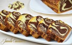 Chec pufos cu cacao (sub butter instead of oil, for more moist) Loaf Tin Recipes, Sweets Recipes, Just Desserts, Cake Recipes, Romanian Desserts, Romanian Food, Yummy Drinks, Yummy Food, Homemade Sweets