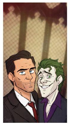 Bruce and John (joker) in Church From Batman the telltale series / the enemy within Superman X Batman, Lego Batman Movie, Bat Joker, Joker Dc, Joker And Harley, Batman Telltale, Gotham Academy, Joker Dark Knight, The Man Who Laughs