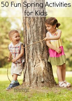 With the warmer weather and longer days, there are so many fun spring activities for kids! Here are 50 Fun Spring Activities to Do with Your Children.