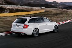 The updated Skoda Octavia RS was unveiled overnight with a smidge more power for the petrol model. Visually, the Octavia's controversial new headlight arrangement is a little less obvious in the RS, . Vw Group, Volkswagen Group, S Car, Black Edition, Gto, Cars And Motorcycles, Automobile, Trucks, Vehicles