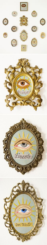 """""""Genius Eyes"""" ... embroidery series by Chris Roberts-Antieau"""