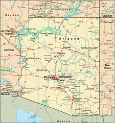 map of Arizona cities | Homeschooling | Pinterest | City, Tucson and ...