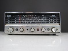Hallicrafters Ham Radio Receiver // Vintage Radio Scanner Model S-120 Mid Century Retro Electronics Tube Style Radio Parts Supply Needs Work by thisattic on Etsy https://www.etsy.com/listing/251875305/hallicrafters-ham-radio-receiver-vintage