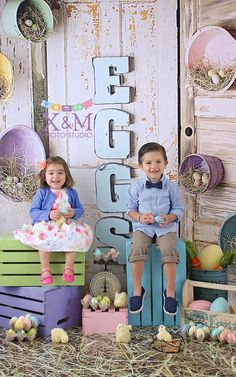Perfectly styled Easter session