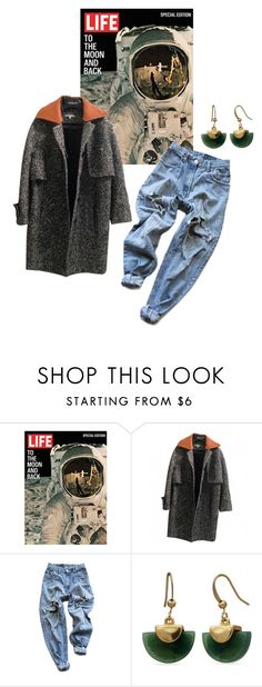 """Promise Me the Moon"" by sarahkparker ❤ liked on Polyvore featuring Levi's and New Directions"