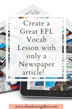 Create your own EFL vocabulary lesson with only a newspaper article! Follow my tried and true method that gets me a great ESL lesson every time. Free Vocabulary worksheet included! English Writing Skills, Teaching English, Teaching Materials, Teaching Ideas, Esl Lesson Plans, Esl Lessons, Newspaper Article, Vocabulary Worksheets, Messages