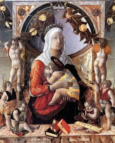 ZOPPO Marco (b. 1433 Cento - d. 1478 Venezia) - Madonna and Child with Angels…