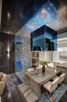 Check out this amazing penthouse design in Las Vegas designed by Mark Tracy.