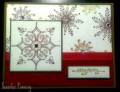 CC453 Serene Snowflakes by Krafty Kitty - Cards and Paper Crafts at Splitcoaststampers