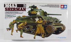 Sherman Gun Medium Tank Tamiya 35250 New Military Model Kit Tamiya Model Kits, Tamiya Models, Wooden Ship Model Kits, Sherman Tank, Model Hobbies, Model Building Kits, Battle Tank, Military Diorama, Model Ships