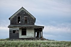 This abandoned farm house was burned and graffitied.