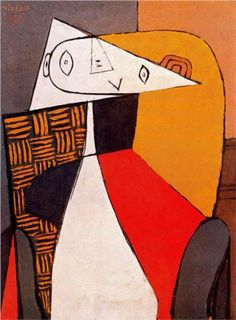 Picasso: Seated Woman (1930) This is how I sit too.