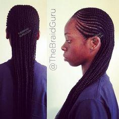 My work! 2 layer cornrows extra long #braids #cornrows #feedincornrows…