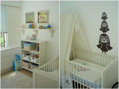 Maltes babyværelse - ugler. Fra Madling.dk