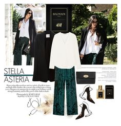 """""""Stella Asteria - Balmain x H&M"""" by stellaasteria ❤ liked on Polyvore featuring A.F. Vandevorst, Theory, Mulberry and Gianvito Rossi"""