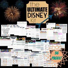 Ultimate Disney Planner Kit Printable Disney by DigitallyOCD Disney Planning Binder, Disney Planner, Disney Vacation Planning, Vacation Planner, Disney World Planning, Trip Planning, Orlando Vacation, Orlando Florida, Viaje A Disney World