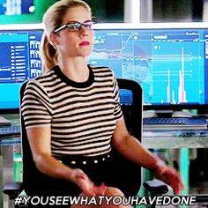 Arrow reaction gifs - Miss Smoak is judging you