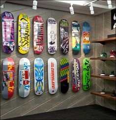 Skateboards on Angled Slatwall or Diagonal Wall?