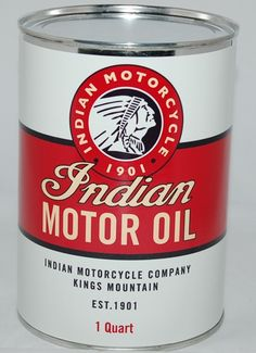 Indian Motor Oil Oil Can. www.gaspumpheaven.com #antique #retro