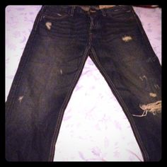 Very gently worn Hollister jeans These are Hollister Hermosa Low rise boot cut jeans that have been worn no more than twice in excellent condition Pants