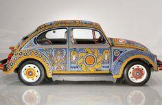 #Vocho , el Volkswagen decorado por Indígenas