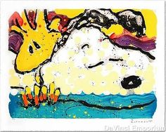 Tom Everhart Snoopy Bora Bora Boogie Bored Hand Pulled Lithograph Signed