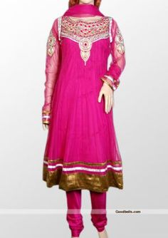 Look fabulous in this magenta anarkali style salwar kameez. Attractive silver zari and beads embroidered neck and similar patch on full length sleeves. Best suitable for any special occasion. http://goodbells.com/salwar-suits/magenta-salwar-kameez-with-full-length-sleeves.html?utm_source=pinterest_medium=link_campaign=pin30julyR31P53