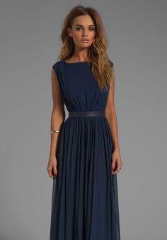 Alice + Olivia Triss Sleeveless Maxi Dress with Leather Trim in Almond Cream - Pesquisa Google