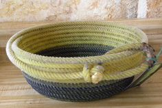 Lasso rope basket Oval great for fruits nuts or by JaneEHathaway, sold