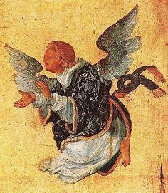 ALBRECHT ALTDORFER ANGEL DETALLE DEL CRISTO EN LA CRUZ 1520