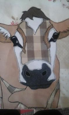 Patchwork embroidered cow cushion by PaddyMacDesigns on Etsy                                                                                                                                                                                 More