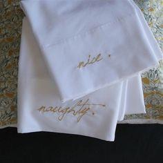 Naughty Nice Pillowcase set of 2
