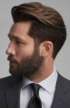 Men's High Pompadour Quiff Hairstyle