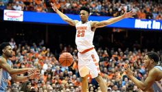 Syracuse forward Malachi Richardson defends during a game against North Carolina on Saturday, Jan. 9, 2016, at the Carrier Dome.