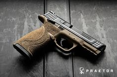 M&P 45 with Custom Stippling
