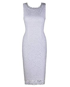 Ineffable Women's Round Neck Sleeveless Elegant Lace Dress(White,S) - lace dress is American standard size and comfortable fit. length, casual from casual to party, for all seasons except cold winter. Cheap Dresses, Casual Dresses For Women, Formal Dresses, Lace Dress, White Dress, Casual Winter, Dress Making, American Standard, Elegant