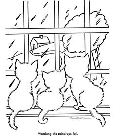 cat coloring pages | Printable Cats Coloring Page