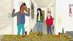 """When the show touched upon the question of one's own control over anything that happens in life. 